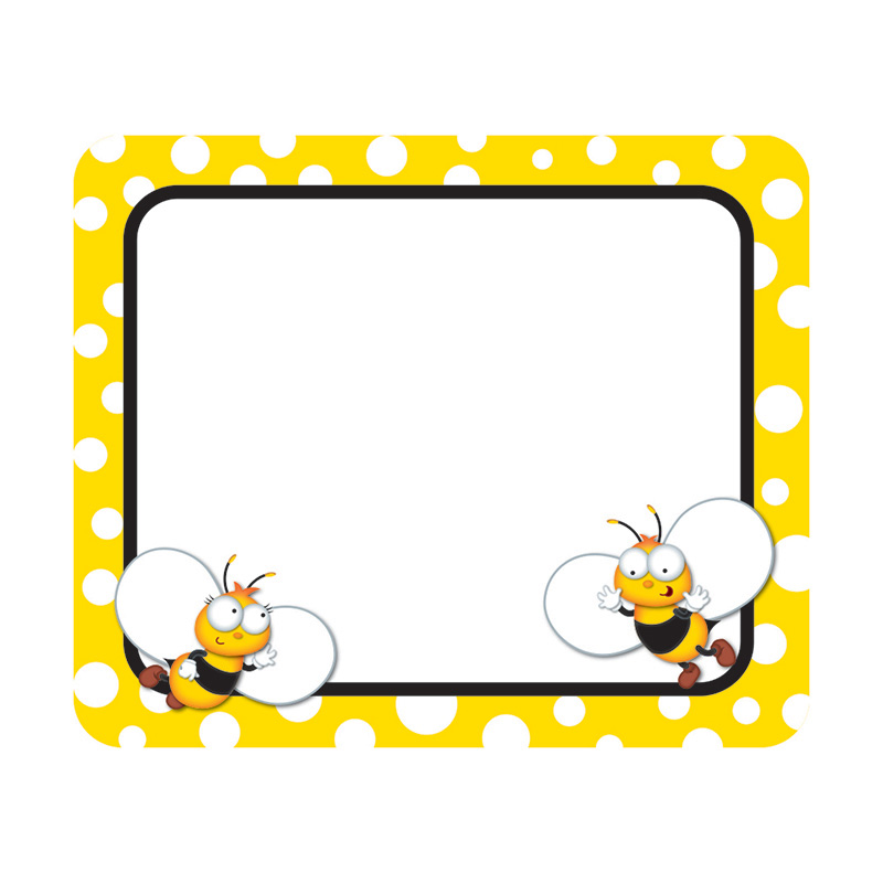 (6 Pk) Buzz-Worthy Bees Name Tags