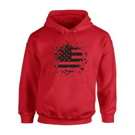 Awkward Styles Unisex USA Flag Graphic Hoodie Tops Black and White - Usa Sweatshirt