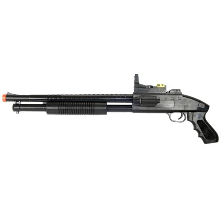 Pump Action M590 Spring Powered Airsoft Shotgun Gun w/ Laser & Light Airsoft Shotgun Rifle Toy