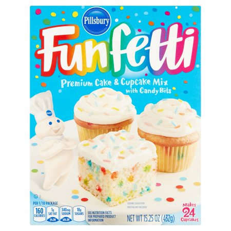 Pillsbury Funfetti Premium Cake   Cupcake Mix With Candy Bits  15 25 Oz