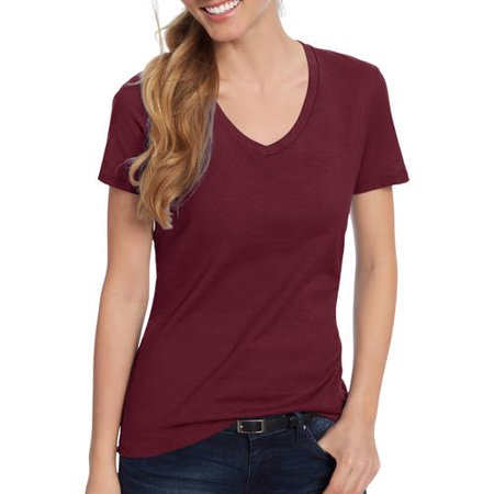 Women's Lightweight Short Sleeve V-neck T Shirt