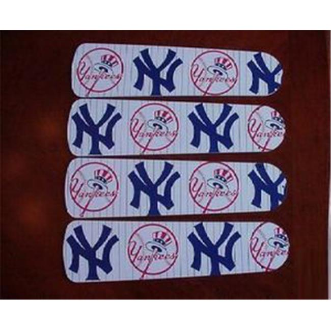 Ceiling Fan Designers 42SET-MLB-NYY MLB York Yankees Baseball 42 inch Ceiling Fan Blades Only