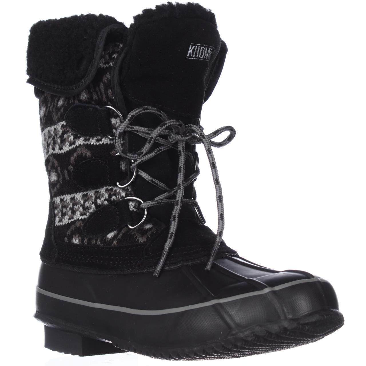 Womens Khombu Maya Short Winter Boots Black by Winter Boots
