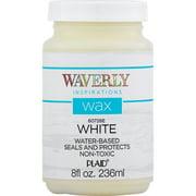 Waverly Inspirations 60728E Chalk Paint Wax, Ultra Matte, White, 8 fl oz