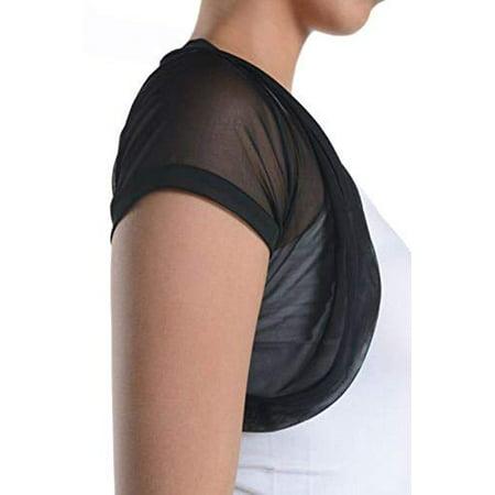 Chiffon Bolero - Fashion Secrets Short Sleeves Sheer Chiffon Bolero Shrug Short Cardigan (Small)