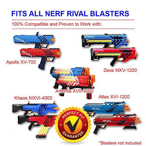 HeadShot Ammo Nerf Rival Compatible Ammo Bulk Glow in The Dark Foam 110 Rounds