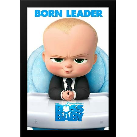 The Boss Baby 28X38 Large Black Wood Framed Movie Poster Art Print