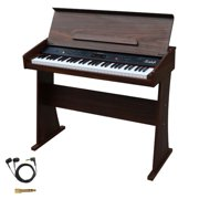 Sawtooth 61-Key Digital Console Piano with Earbuds & Accessories