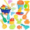 20 PCs Beach Toys for Kids Set, Outdoor Toys for Kids, Summer Fun Sand Toys and Sandbox Toys F-301