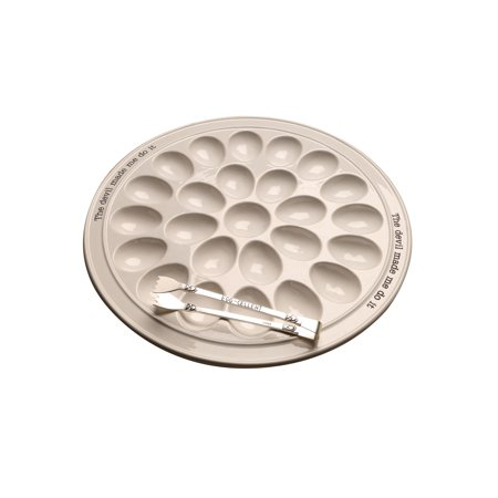 - Mud Pie The Devil Made Me Do It Deviled Egg Tray & Tongs Set