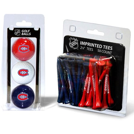 - Team Golf NHL Montreal Canadiens 3 Golf Balls And 50 Golf Tees