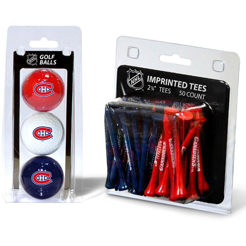 Team Golf NHL Montreal Canadiens 3 Golf Balls And 50 Golf Tees