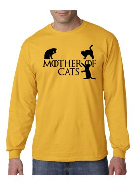 69eefa2c8236f Product Image 793 - Unisex Long-Sleeve T-Shirt Mother Of Cats Dragons Game  Thrones Parody. New Way