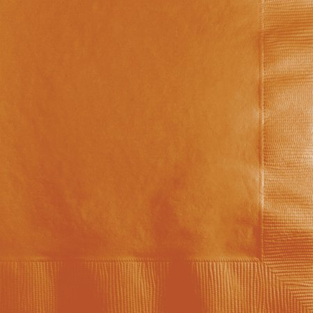 Pumpkin Beverage Napkins - Pumpkin Spice Orange Beverage Napkins, 50-Pack