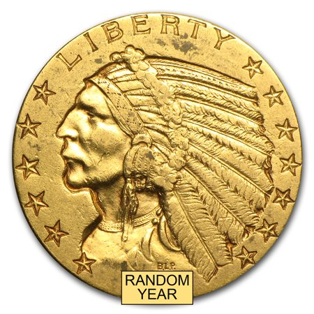 $5 Indian Gold Half Eagle XF (Random Year) (Indian Gold Coin)