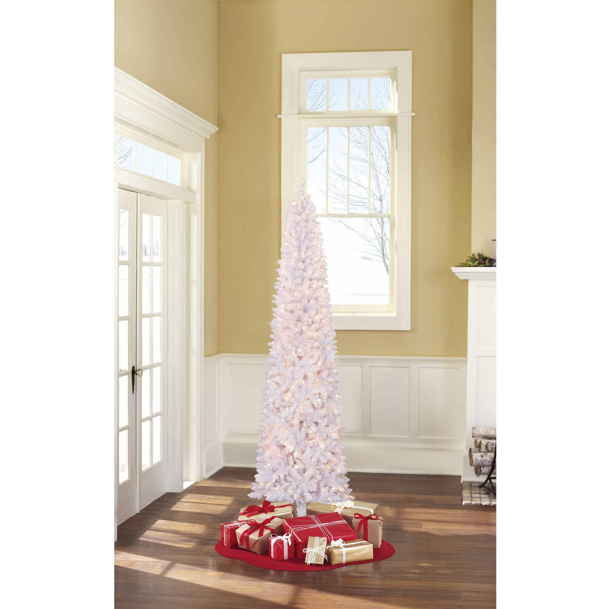 Holiday Time Pre-Lit 9' Brinkley Pine Artificial Christmas Tree ...
