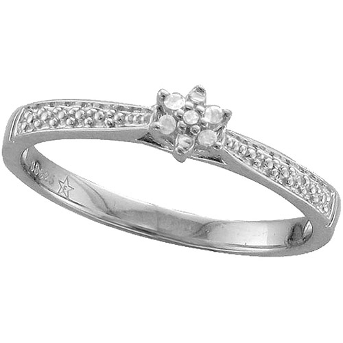 Diamond Accent Promise Ring in Sterling Silver