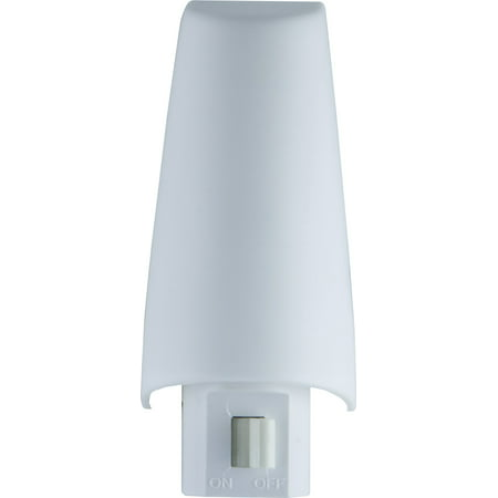 Lights by Night Incandescent Plug-In Night Light, Manual On/Off, White Shade, - Lady Nightshade