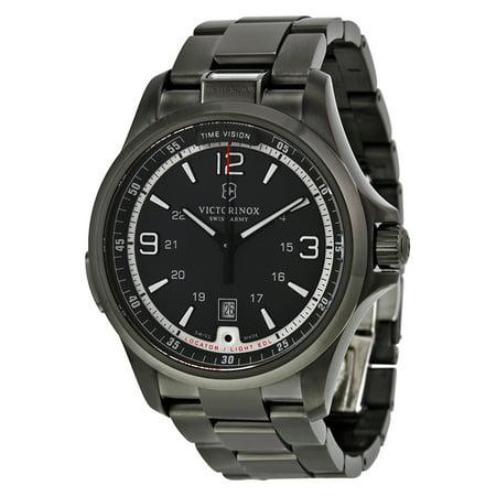 Victorinox Swiss Army Night Vision Dark Grey Dial Stainless Steel Mens Watch (Victorinox Night Vision)