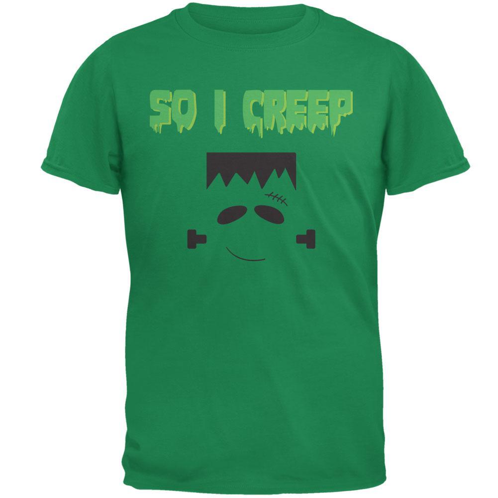 Halloween So I Creep Frankenstein Mens T Shirt