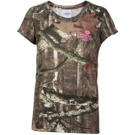 Mossy Oak Girls' Camo Short Sleeve Crew Tee