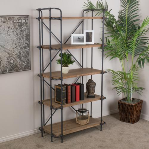 Denise Austin Home Mercia 5-Shelf Bookcase