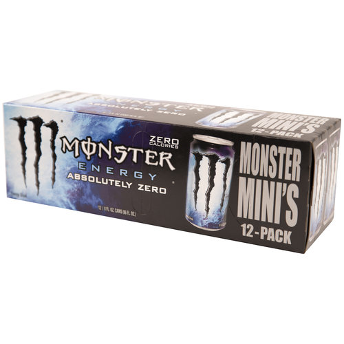Monster Mini's Energy Absolutely Zero Energy Drink, 8 fl oz, 12 pack