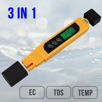 TDS Water Quality Tester - TDS, EC & Temperature Meter 3 in 1, 0-9999 ppm Meter, LCD Display, TDS Meter for Drinking Water Test, Coffee, Swimming Pool, Aquarium, RO/DI Water, Hydroponics