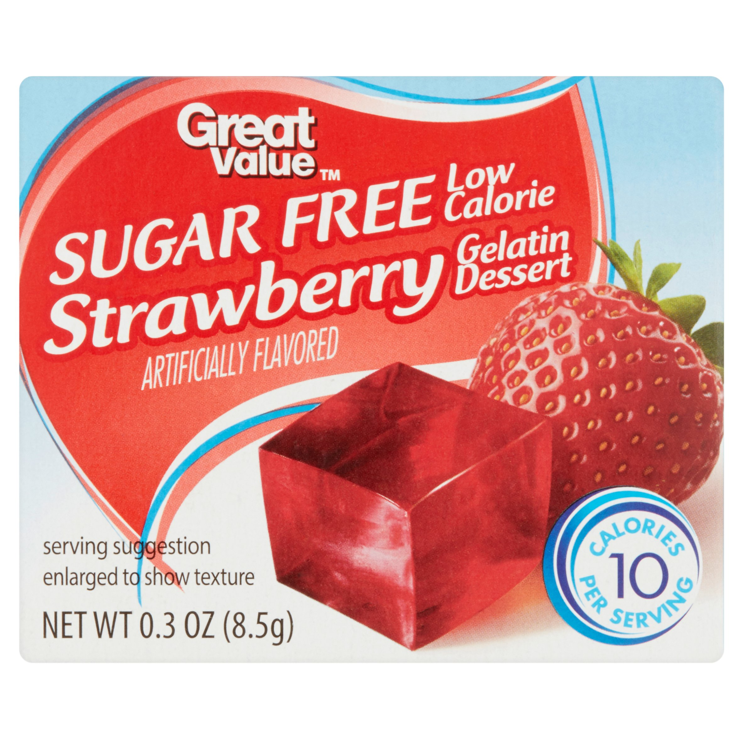 Great Value Strawberry Gelatin Dessert, 0.3 oz by Wal-Mart Stores, Inc.