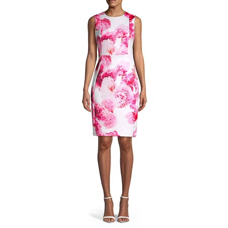 Floral Sleeveless Sheath Dress ()