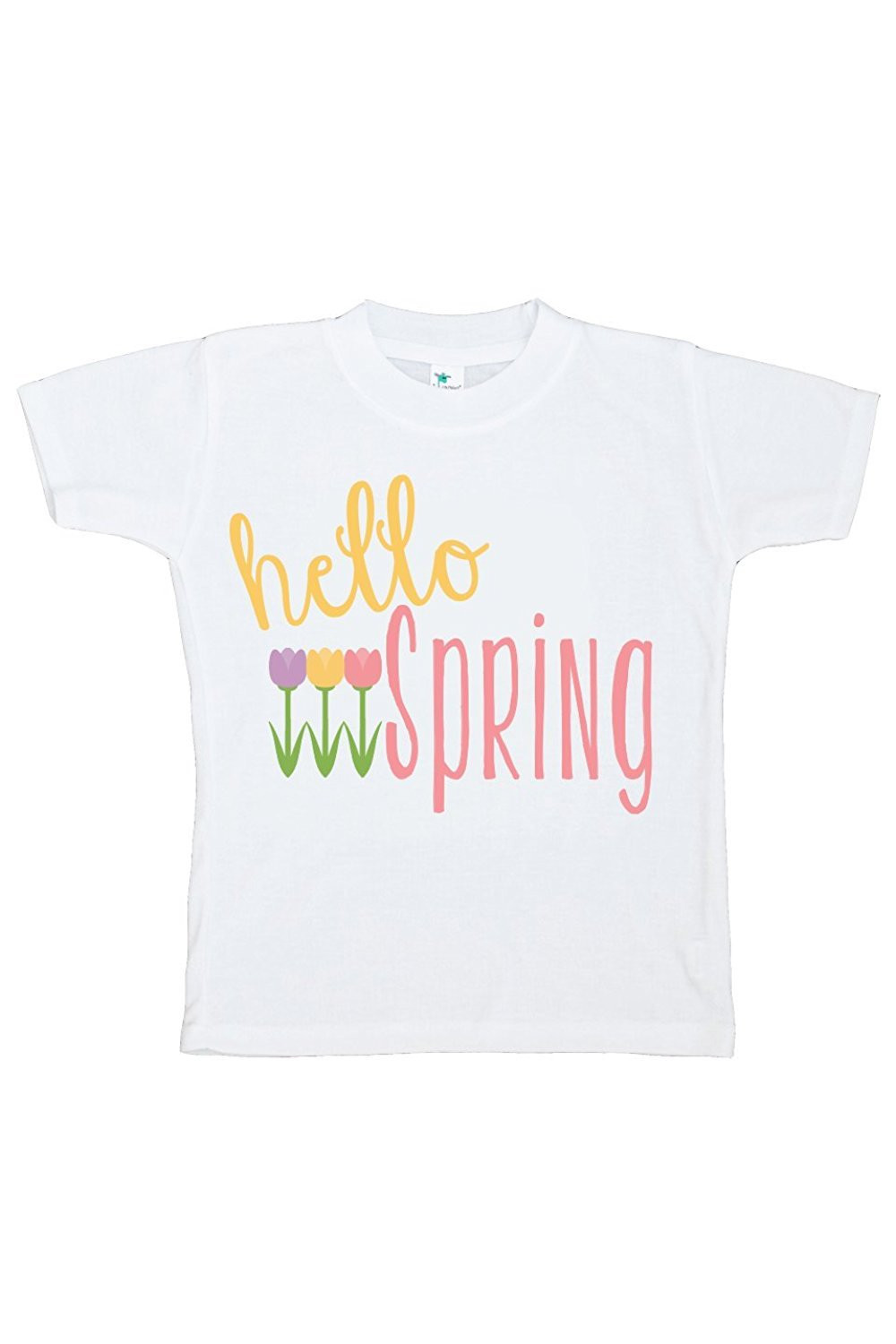 Custom Party Shop Hello Spring Girls' Novelty Tshirt - Yellow and green / 5/6T Shirt