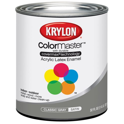 Krylon Latex Classic Gray Quart