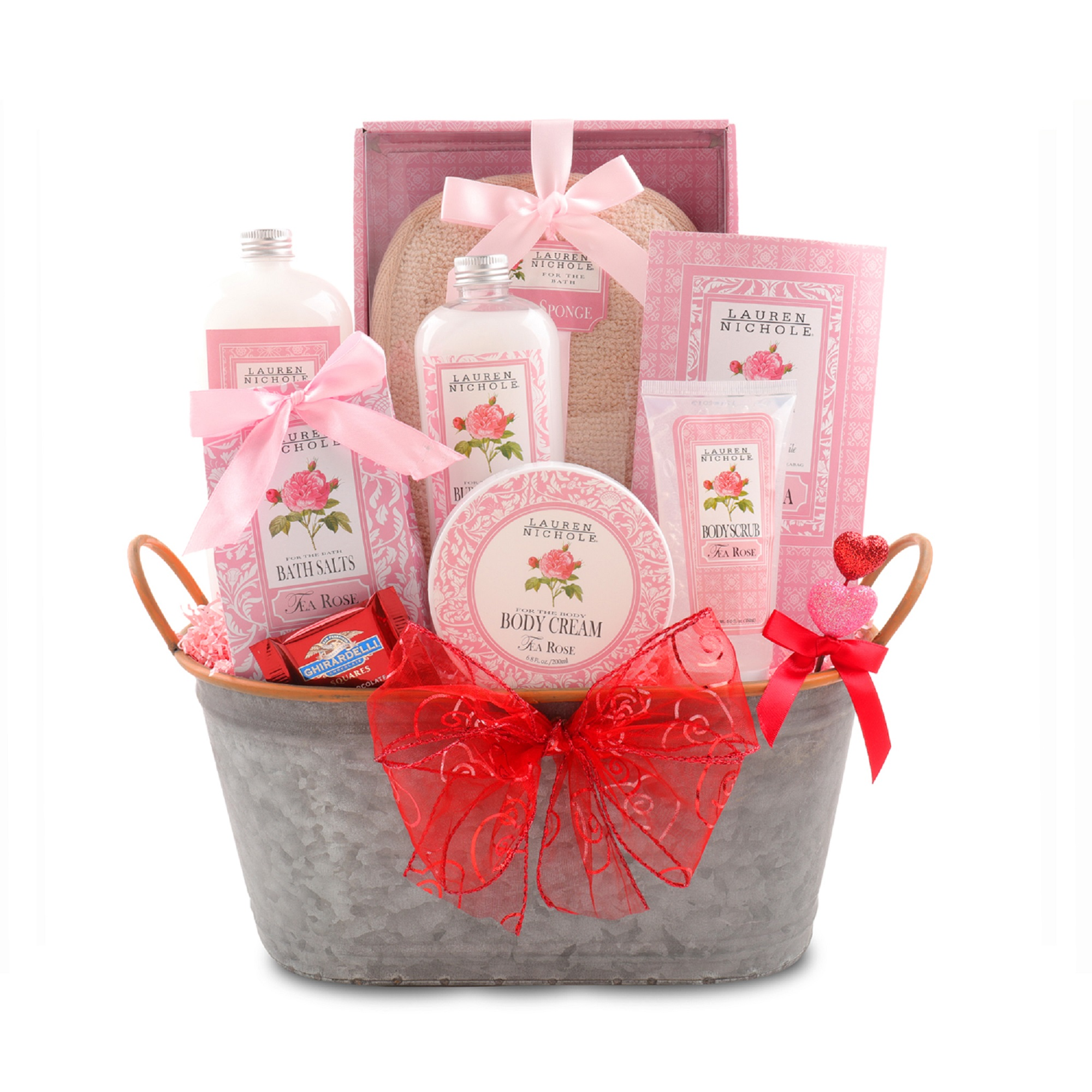 Alder Creek Gift Baskets Lauren Nichole Tea Rose Seasonal Gift Set, 12 pc
