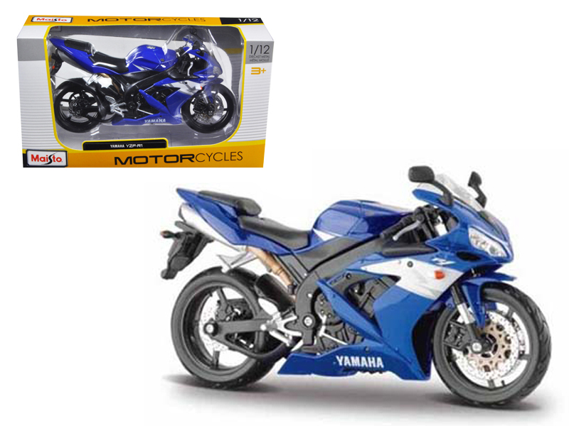 2004 Yamaha YZF-R1 Blue Bike 1 12 Motorcycle by Maisto by Diecast Dropshipper