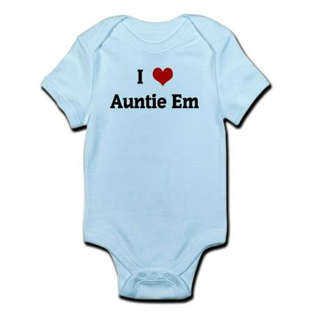 CafePress - I Love Auntie Em Infant Bodysuit - Baby Light (Best Hanes Auntie Baby Clothes)