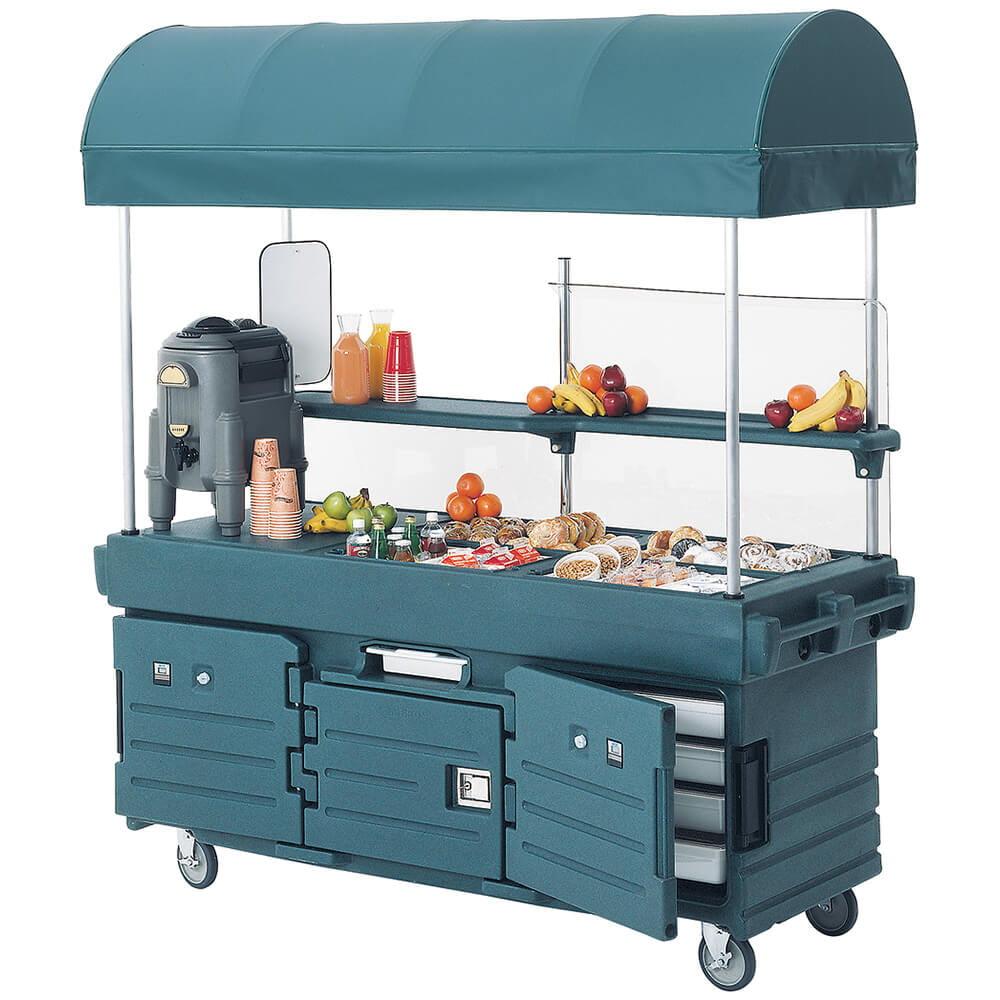 Cambro Mobile Food Kiosk with Canopy, 4 Food Pan Wells, G...