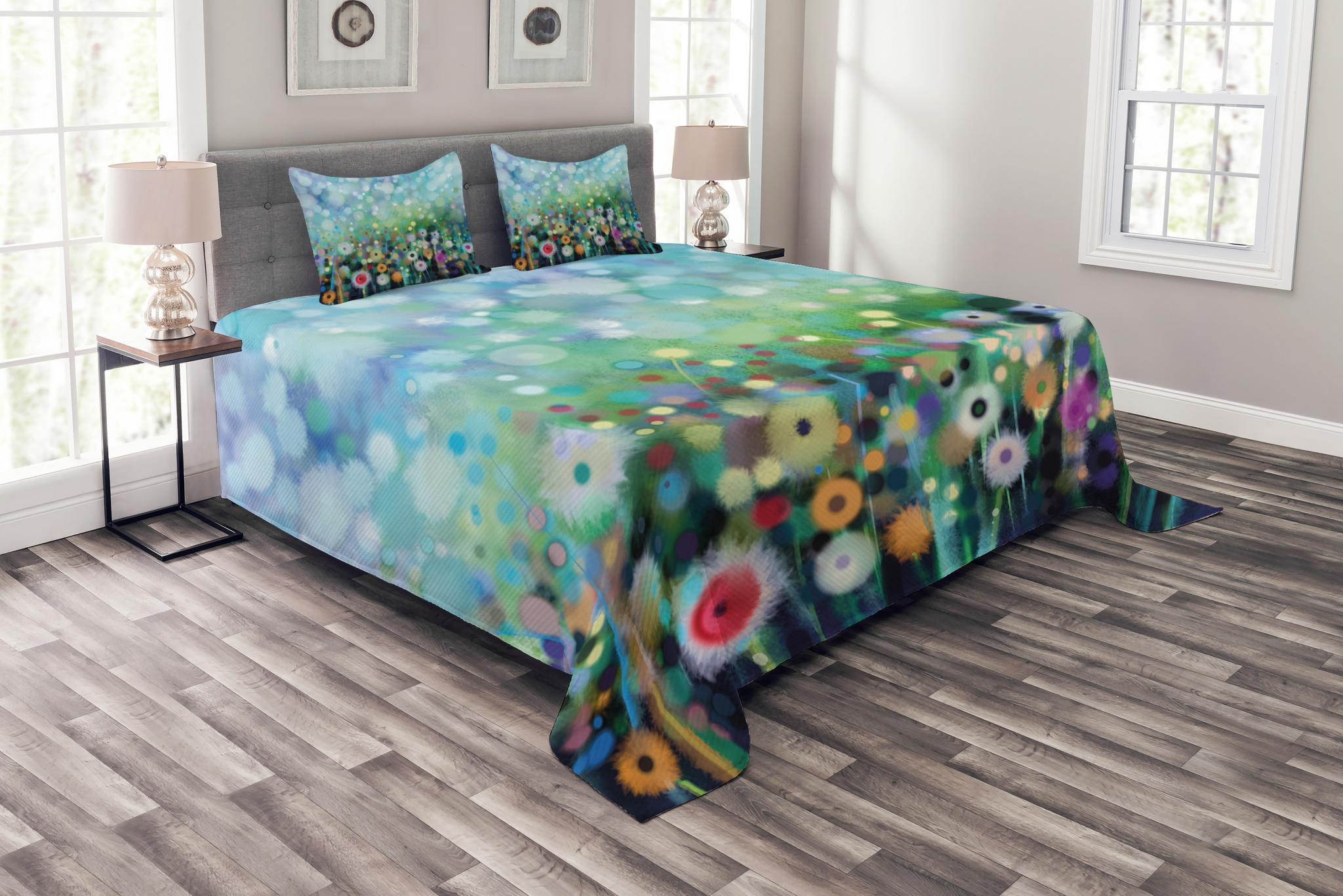 Flower Bedspread Set Dandelion Seeds In Air Splashes Pollination Time Mother Earth Growing Giving Life Decorative Quilted Coverlet Set With Pillow Shams Included Multicolor By Ambesonne Walmart Com Walmart Com