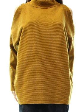 e50212e11d Product Image Alfani NEW Gold Women s Size Large L Cold Shoulder Mock Neck  Sweater