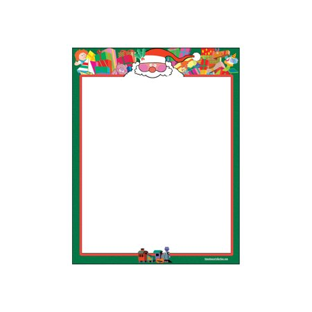 Santa Theme Letterhead - 80 Sheets Per Pack - Fun Christmas Stationery for $<!---->