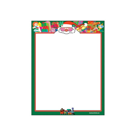 Santa Theme Letterhead - 80 Sheets Per Pack - Fun Christmas Stationery](Halloween Themed Lined Paper)