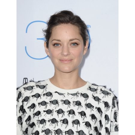 Stretched Canvas Art - Marion Cotillard At Arrivals For 2015 Film Independent Spirit Awards Nominee Brunch - Small 8 x 10 inch Wall Art Decor Size.