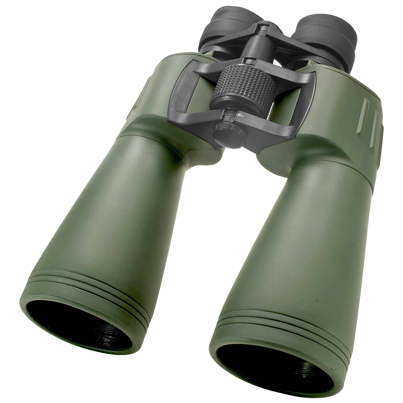 Binocular, 10X-30X, 60mm Obj., Green Rubber Coating, Case Included. by Daisy