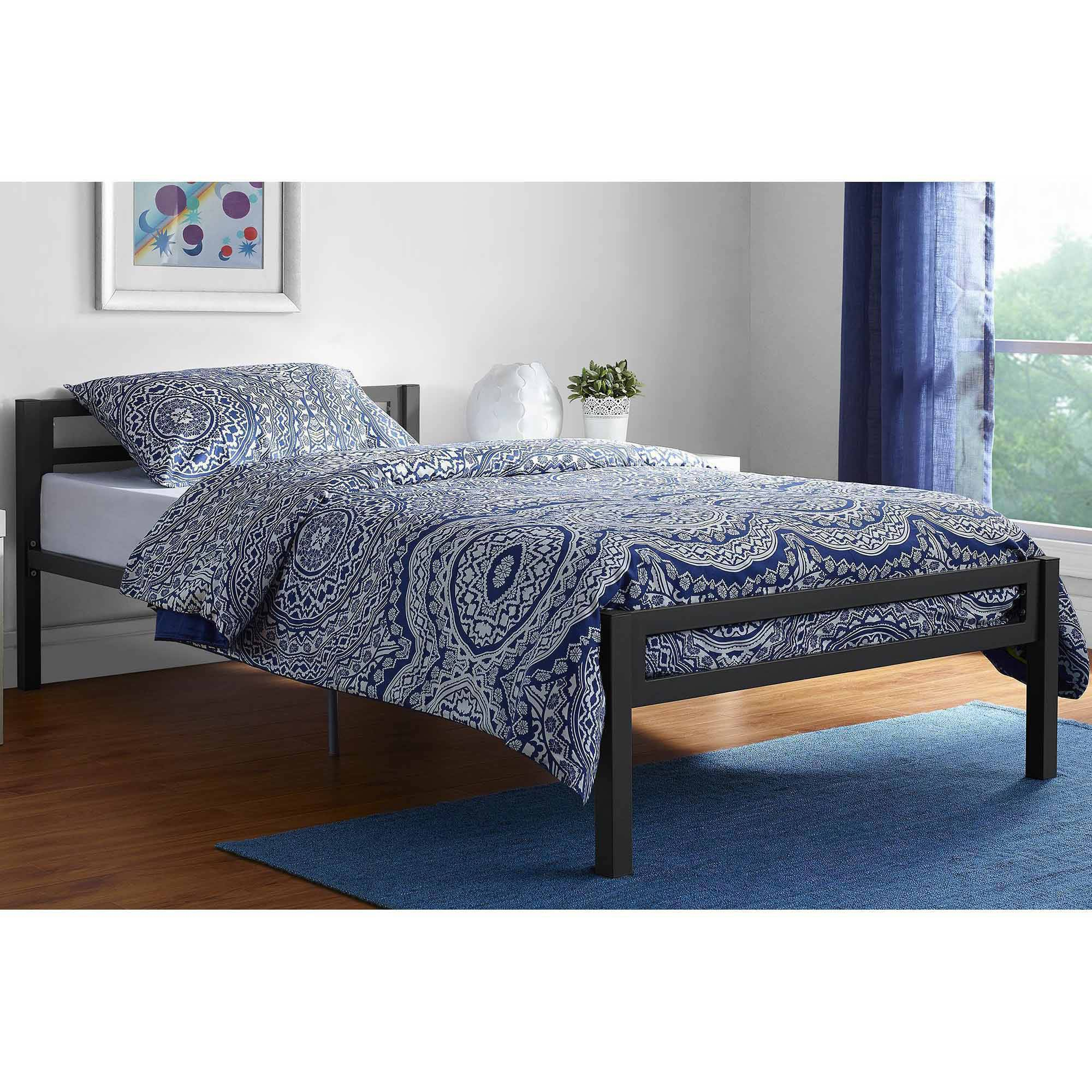 Mainstays Premium Metal Twin Bed, Multiple Colors