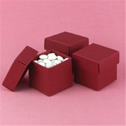 Hortense B Hewitt 90216P Claret 2 piece Favor Boxes - Personalized