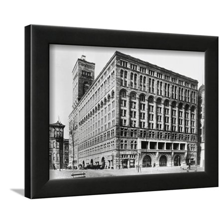 Exterior View of Auditorium Building by Louis H. Sullivan Framed Print Wall (Louis Sullivan The Tall Office Building Artistically Considered)
