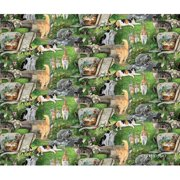 Springs Creative Wild Wings Scenics Fabric, Strolling Along, Green