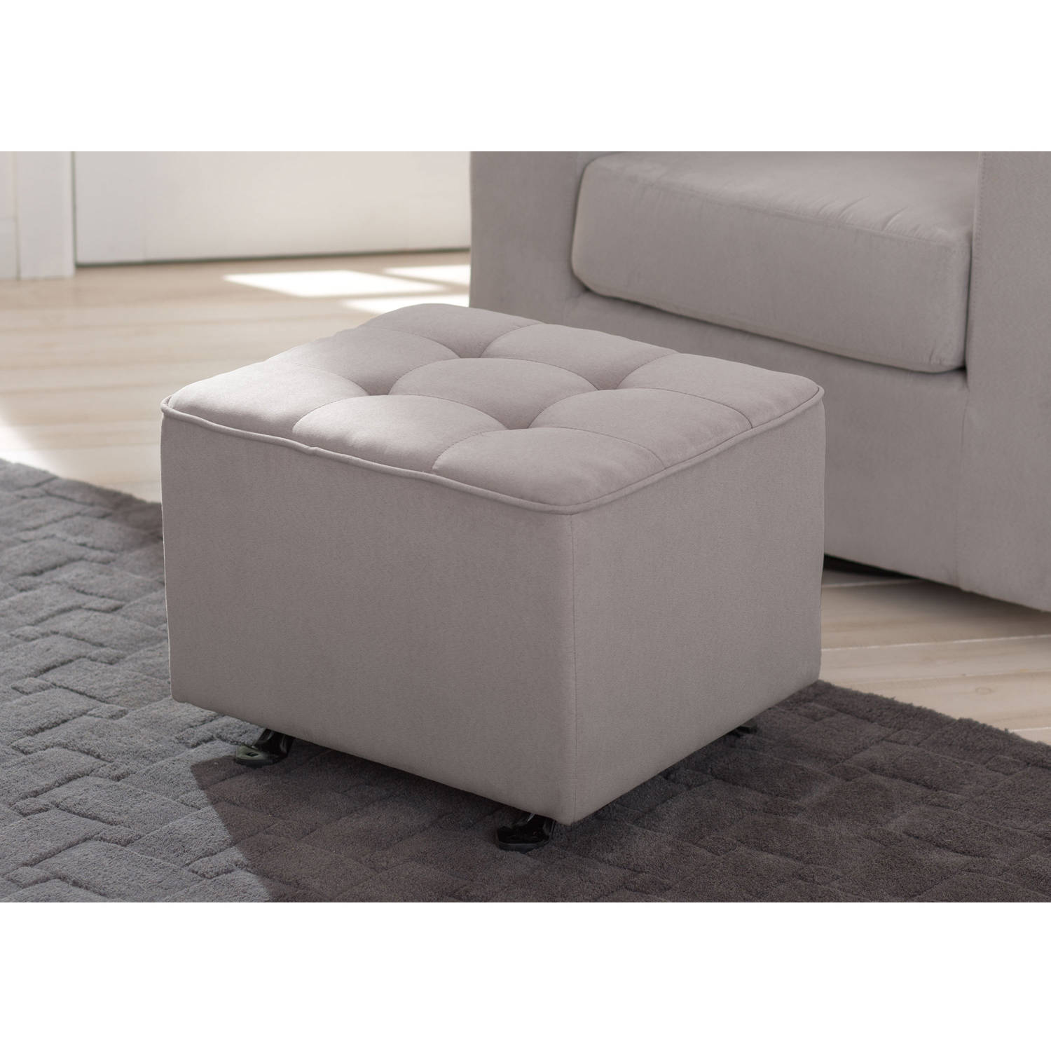 delta children nursery tufted gliding ottoman choose your color