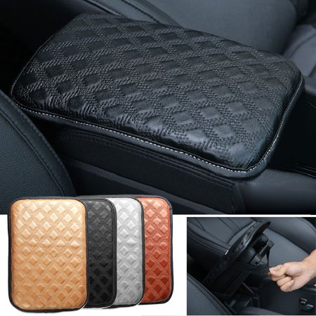 - Universal Vehicle Car SUV Leather Anti-slip Armrest Pad Cover Auto Center Console Box Cushion Pad