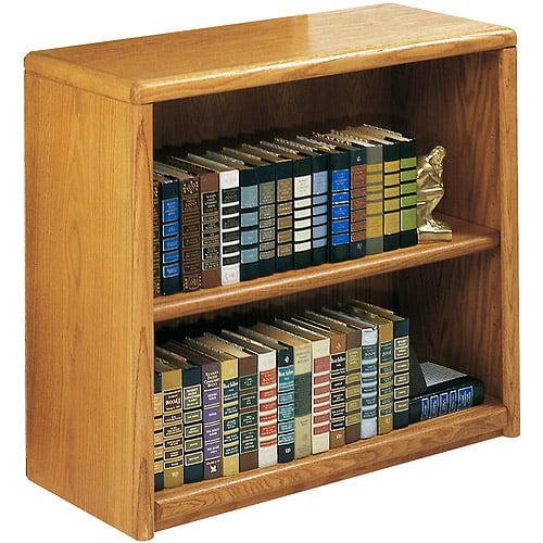 Classic Oak 2-Shelf Bookcase, Medium Oak