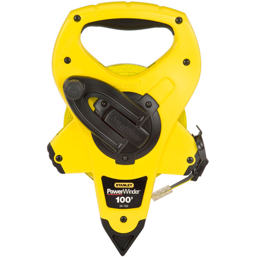 Stanley Hand Tools 34-760 100' PowerWinder Open Reel Long Measure Tape